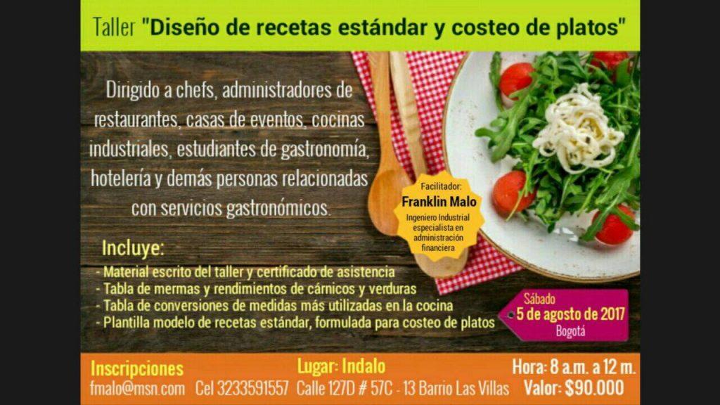DISEÑO DE RECETAS ESTÁNDAR Y COSTEO DE PLATOS | Vector